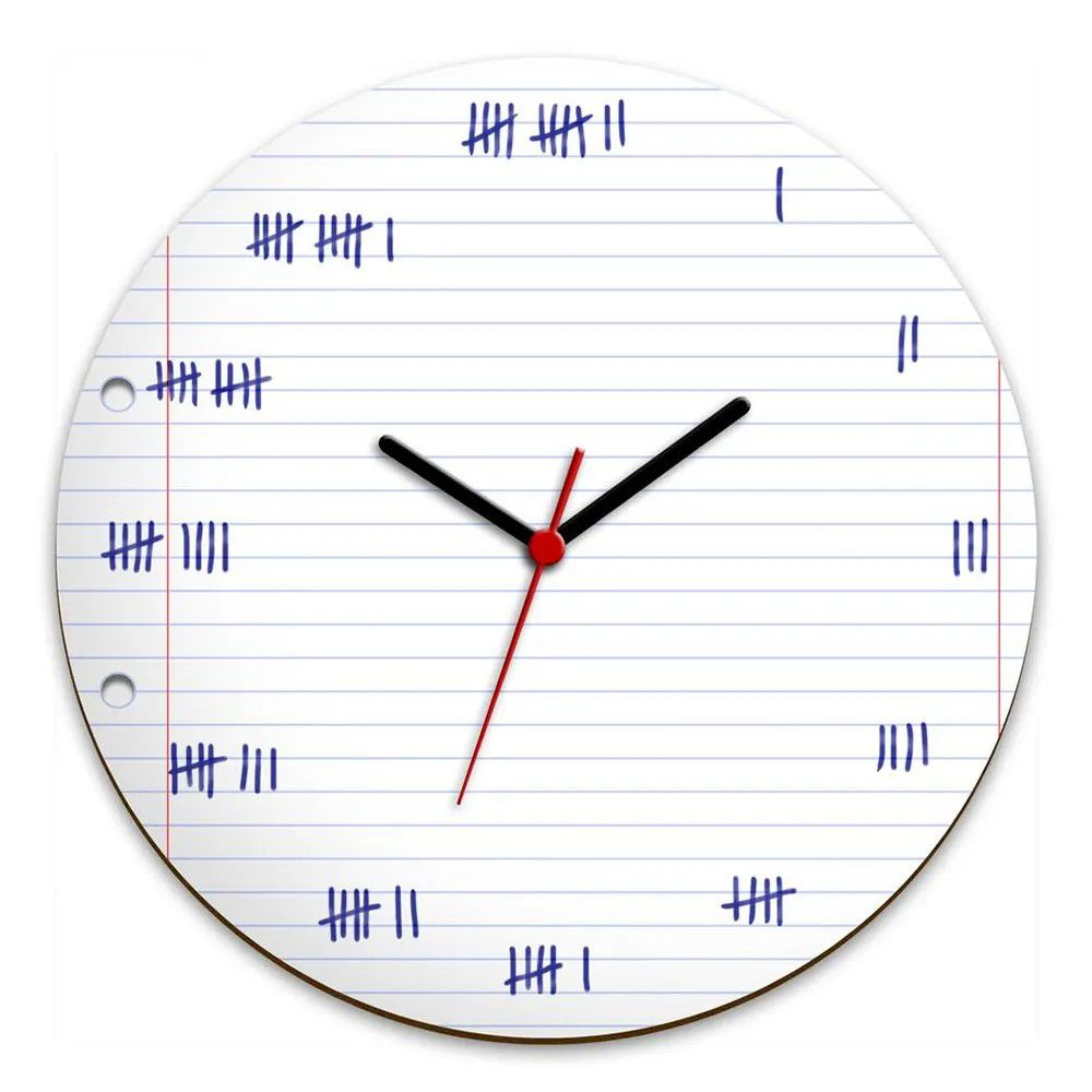 Relógio de Parede Marcação à mão