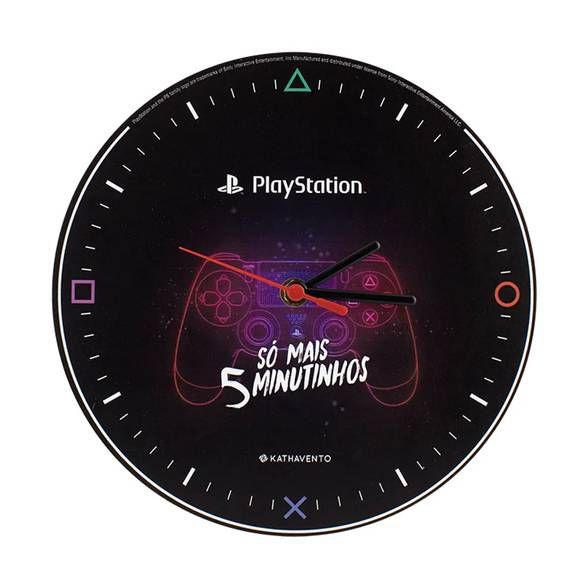 Relógio de Parede Play Station Clássico