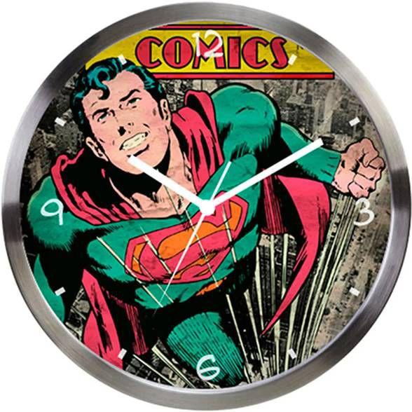 Relógio de Parede Superman Verde Comics