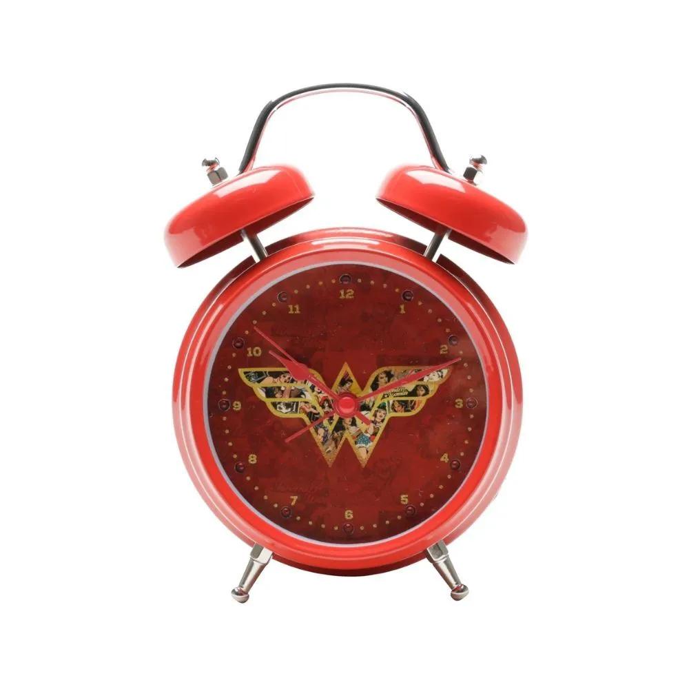 Relógio despertador Mulher maravilha com LED