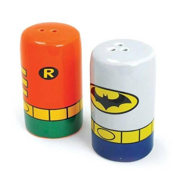Saleiro e Pimenteiro Batman e Robin