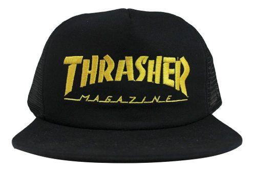 Boné Thrasher Trucker - Preto