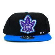 Boné Official - California Purple Leafs - Snapback Preto