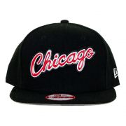 Boné New Era Chicago Bulls Aba Reta Snapback Preto