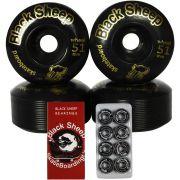 Roda Black Sheep 51mm e Rolamento Black Sheep Reds Importado