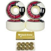 Roda Black Sheep 55mm e Rolamento Black Sheep Gold