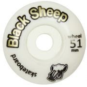 Roda Skate Black Sheep Iniciante, 51 mm Branca