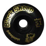 Roda Skate Black Sheep Iniciante, 51 mm Preta