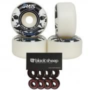 Roda Skate Brats Pro 101A 60mm com Rolamento BS Black