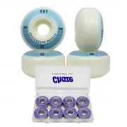 Roda Skate Emex 53mm 102a Rolamento Chaze kit Profissional