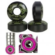 Rodinha Skate Roda Black Sheep 53mm e Jogo Rolamento Abec 15