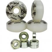 Rodinha Skate Roda Black Sheep 53mm e  Jogo Rolamento Abec 1