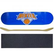 Shape Marfim para Skate Tamanho 8.0 com Lixa Auto Adesiva