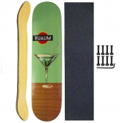 Shape Rua 1 Skate Marfim 8.0 com Lixa e Parafuso Base P/10