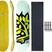 Shape Skate Wood Light 7.75 com Lixa Parafuso Base porca 10