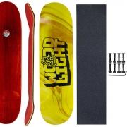 Shape Skate Wood Light 8.5 com Lixa Parafuso Base porca 10