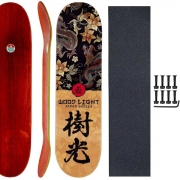 Shape Skate Woodlight 8.0 com Lixa Parafuso Base porca 10