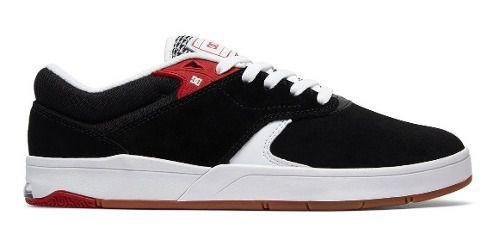 Tênis Dc Shoes Tiago S Preto/branco/vermelho