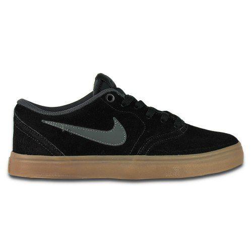 Tênis Nike Sb - Modelo Check Couro Preto Solado Caramelo