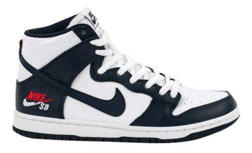 Tênis Nike Sb Zoom Dunk High Pro - Branco E Azul