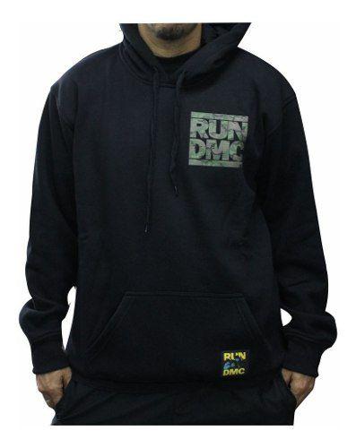 Blusa Moletom New Era X Run Dmc Preta