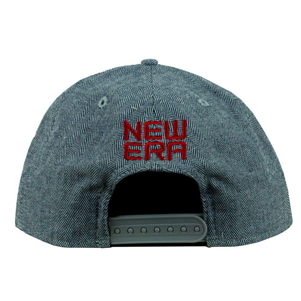 Boné New Era Brand Aba Reta Cinza Snapback