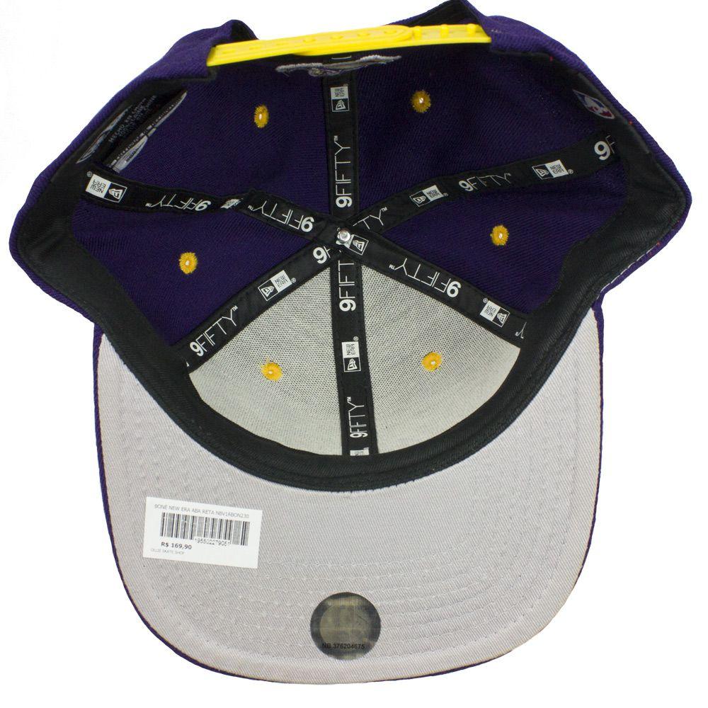 Boné New Era Nba Lakers Snapback Roxo