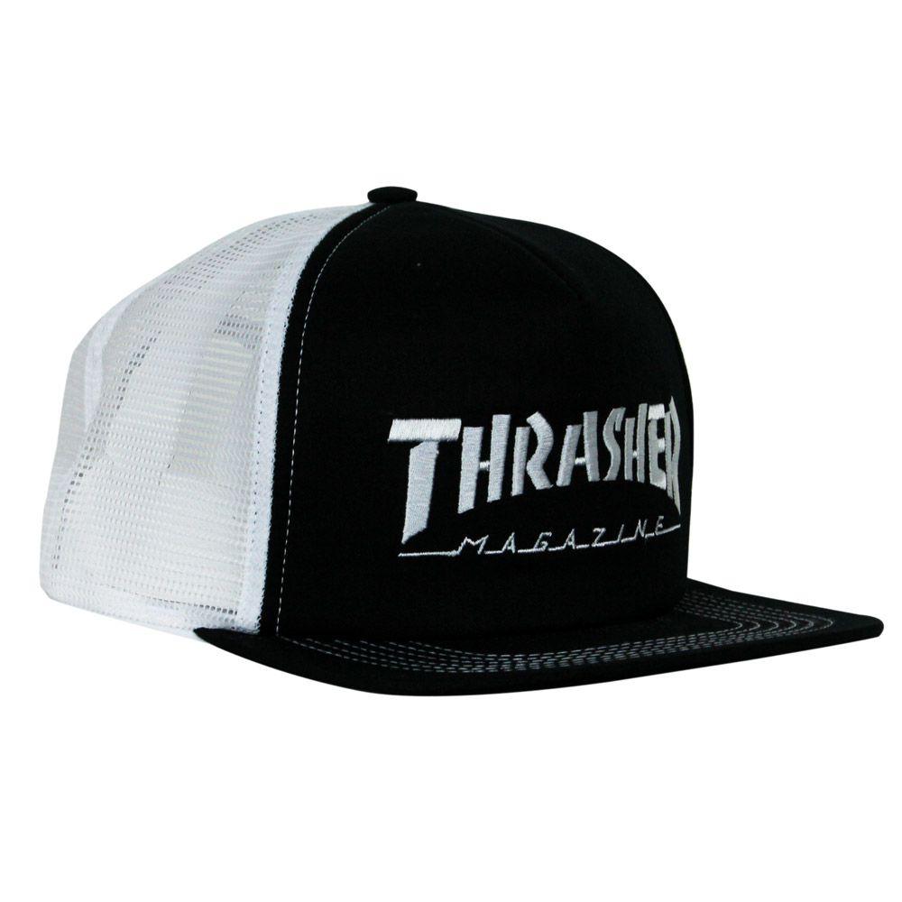 Boné Thrasher Trucker - Preto E Branco