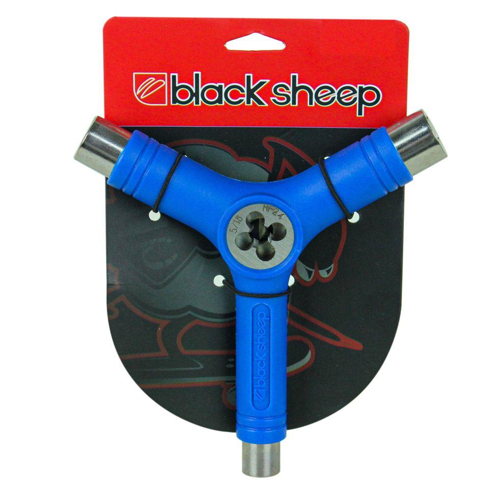 Chave Para Skate Black Sheep Y Cossinete Azul