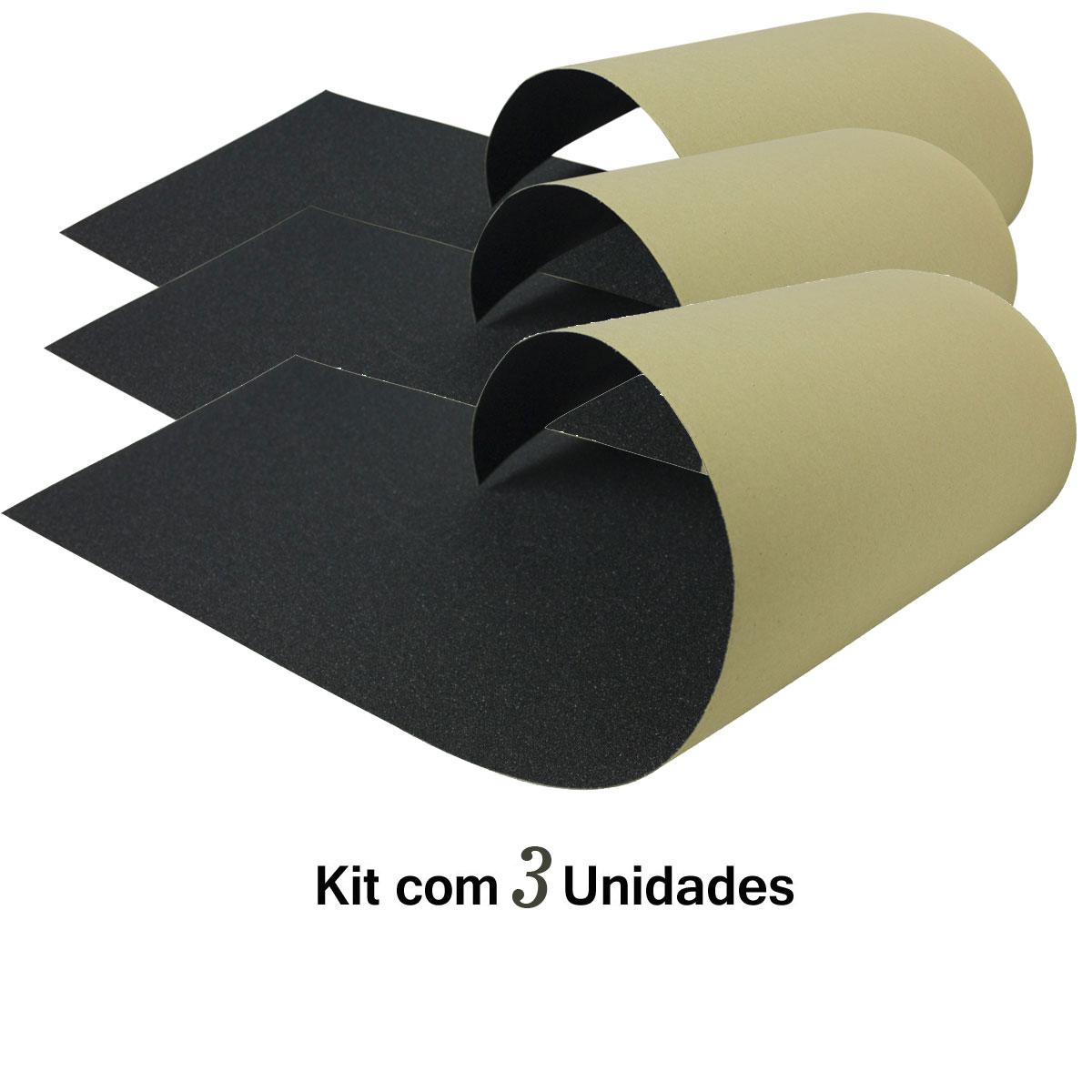 Lixa Emborrachada Importada Micro Furos Kit com 3 Unidades