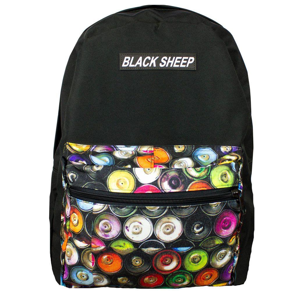 Mochila Black Sheep Preta College Spray