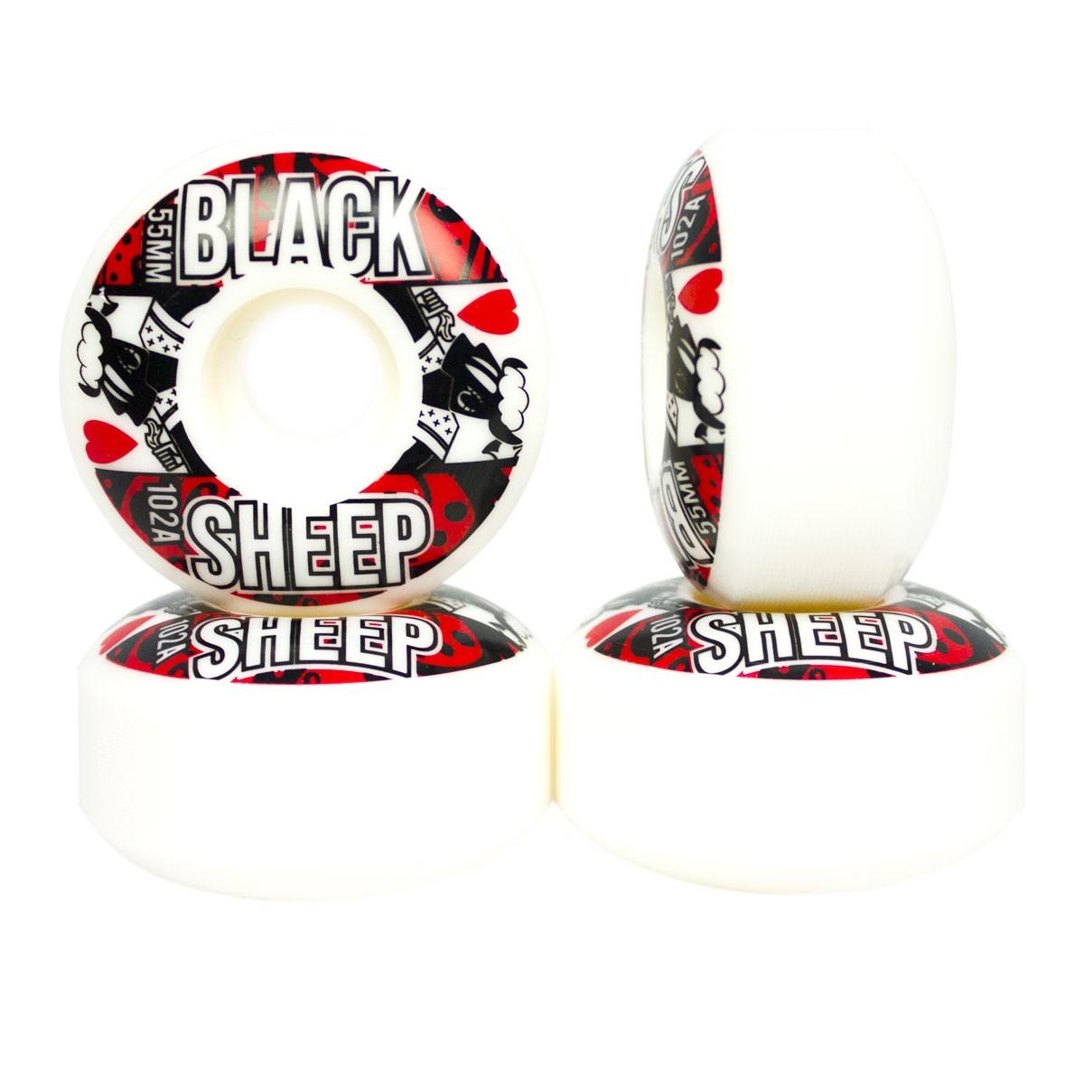 Roda Black Sheep 55 mm Importada 102A de Dureza