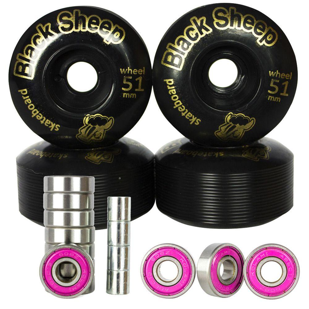 Roda De Skate Black Sheep + Rolamento Abec 13 + Espaçador
