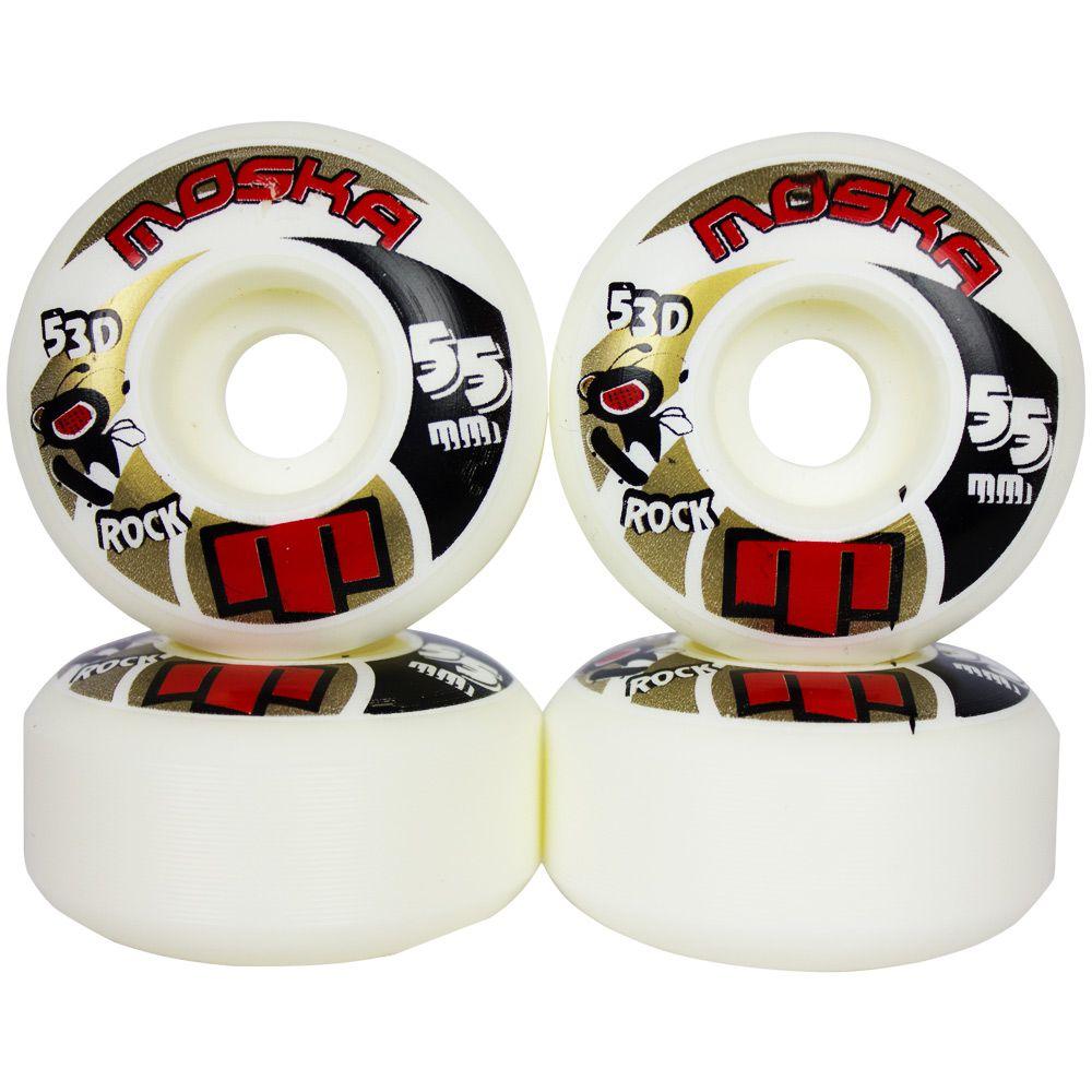 Roda Skate Moska 55mm 101A de Dureza 53D Profissional