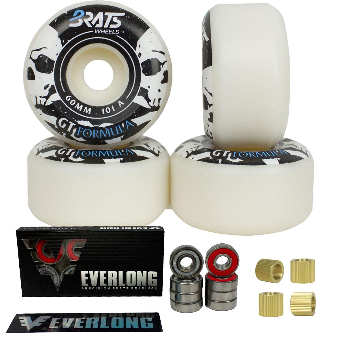 Roda Skate Brats 101A 60mm Rolamento Everlong  e Espaçadores