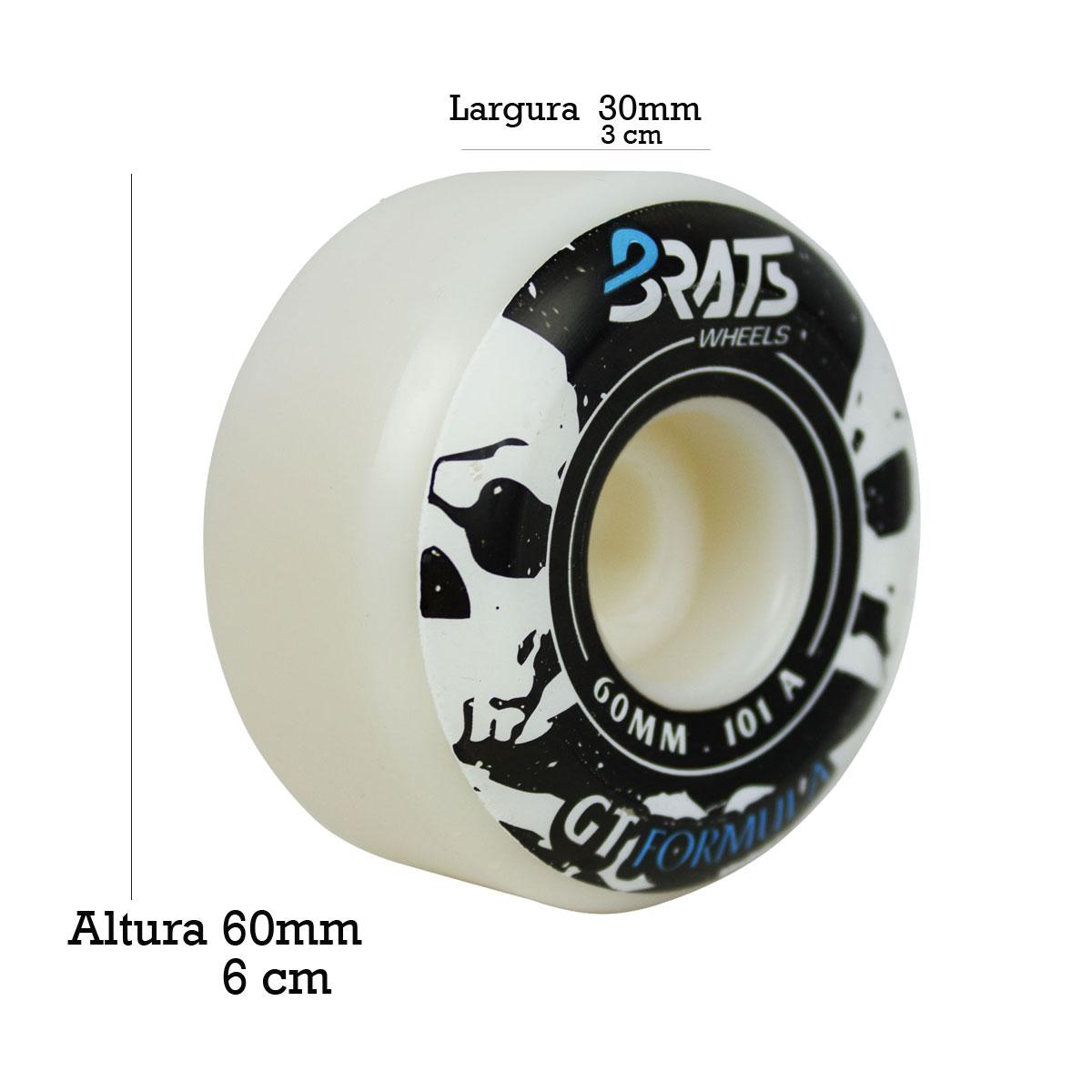 Roda Skate Brats Pro 101A 60mm com Rolamento BS Reds