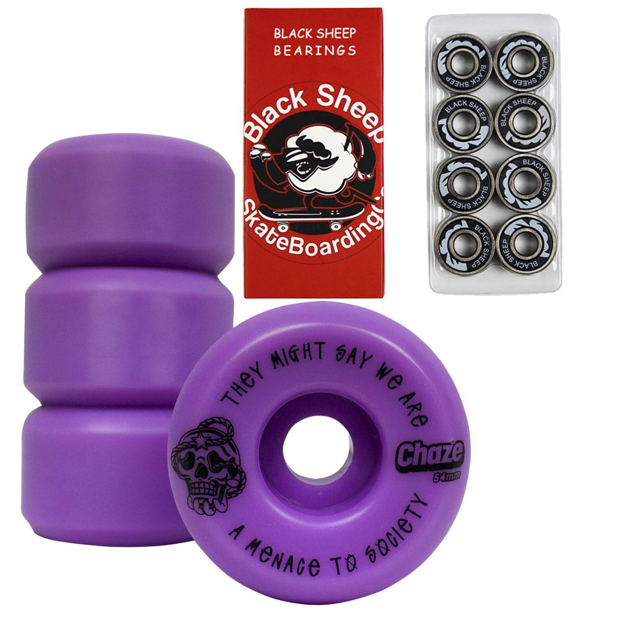 Roda Skate Street 54mm Chaze 102A Rolamento BS Reds