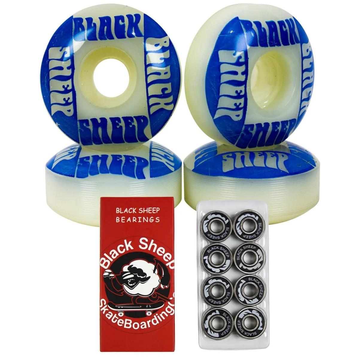 Rodinha Skate BS e Rolamento Black Sheep Red Importado