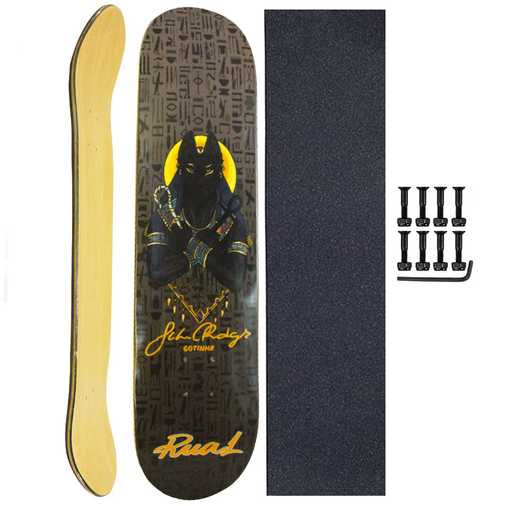 Shape Rua 1 Skate Marfim 7.75 com Lixa e Parafuso Base P/10