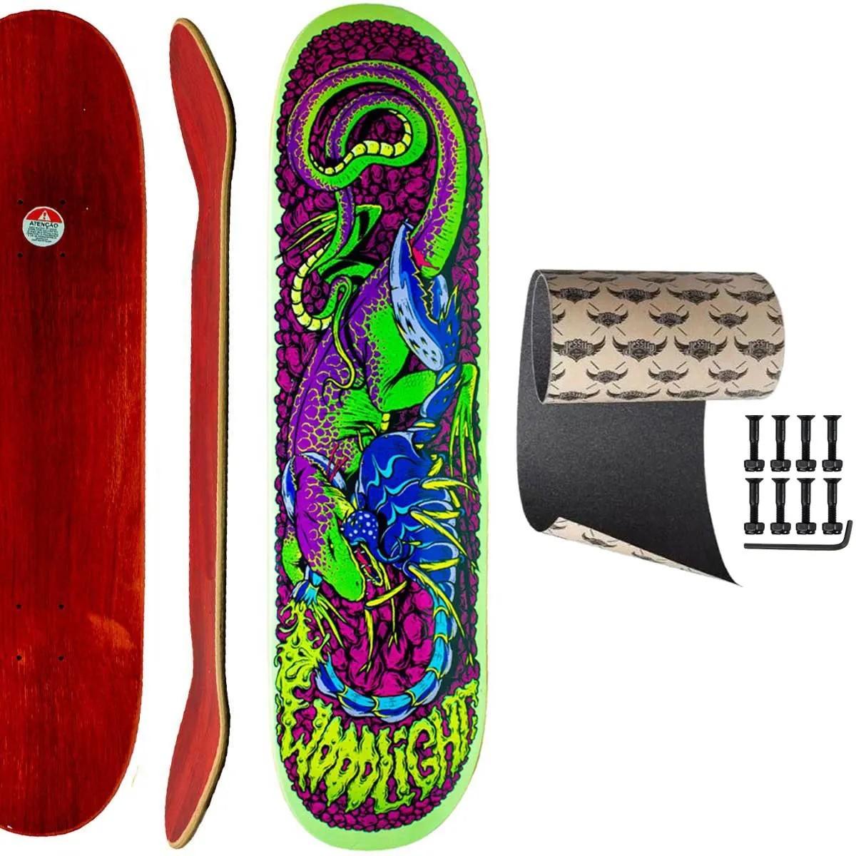 Shape Skate Woodlight 8.0 com Lixa Jessup Parafuso porca 10