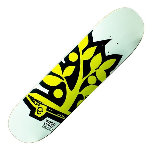 "Shape Woodlight Fiberglass Marfim 7.75"" Logo Amarelo"