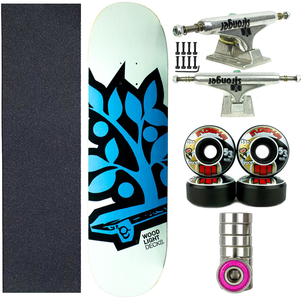 Skate Completo WoodLight Profissional