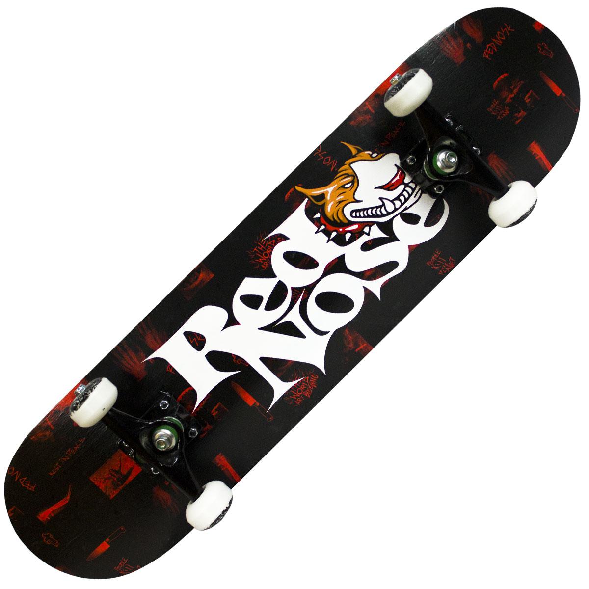Skate Iniciante Completo Montado Red Nose