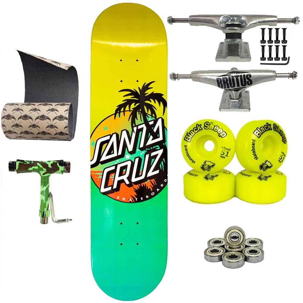 Skate Santa Cruz Completo Lixa Jessup e Chave para montagem