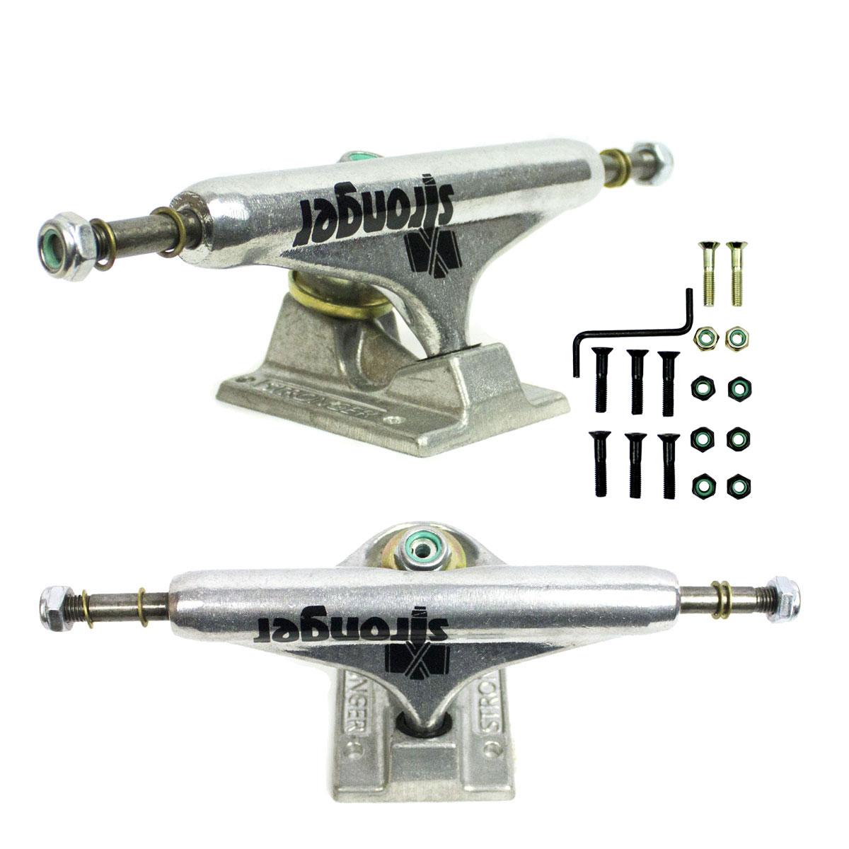 Truck Skate Stronger 149mm Profissional Parafuso de Base P10