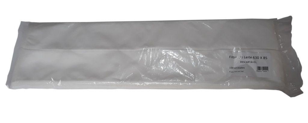 Pacote 100 Filtros TNT 630X85 (Alfa Longo) Ordenha