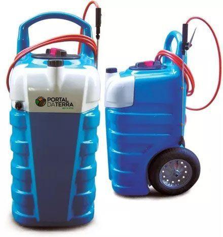 Pulverizador 100 Litros 12V Bat c/ Res. de Água Limpa