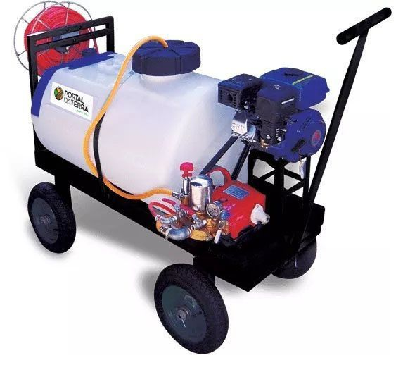 Pulverizador 200 Litros Motor Gasolina 4T 5,5HP Bomba 27L