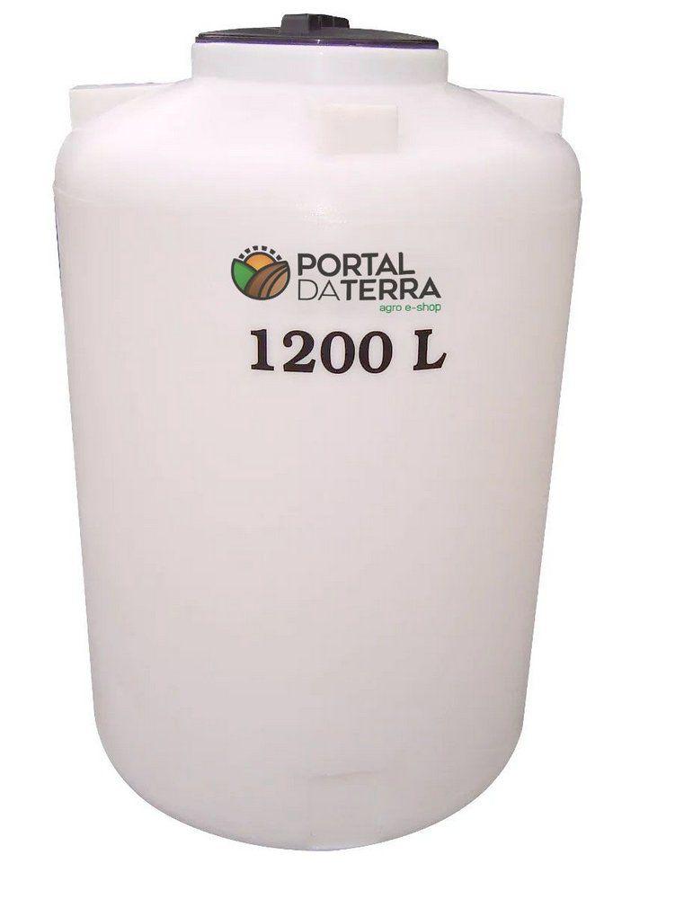 Tanque Agrícola 1200 Litros Vertical Fundo Plano