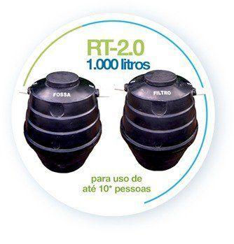 Tratamento de Esgoto 1000 Litros - Fossa Séptica